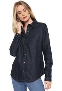 Camisa Jeans Dimy Lisa Azul
