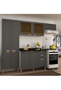 Cozinha Completa 5 Peã§As Americana Multimã³Veis 5680 Branco/Grafite - Branco/Incolor - Dafiti