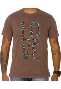 Camiseta Use Thuco My Love Marrom