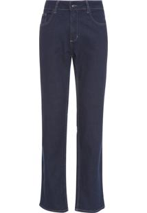 Calça Masculina Jeans Five Pockets Relaxed Straigh - Azul