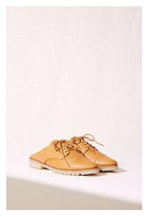 Sapato Oxford Slip-On Marrom