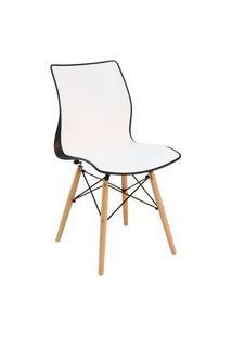 Cadeira Tramontina 92066913 Maja Com Base 3D Preta E Branca