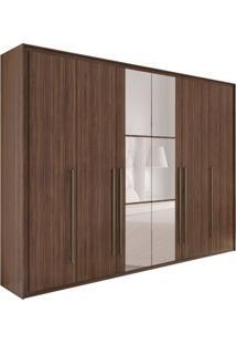 Guarda-Roupa Casal Com Espelho Reali New 6 Pt 6 Gv Imbuia