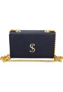 Bolsa Clutch Pequena De Lado Selten Azul