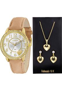 Kit Relógio Feminino Lince Lrc4302L K109S2Tx