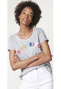 Blusa Feminina Manga Curta Com Estampa