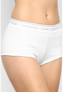 Calcinha Calvin Klein Boyshort Feminina - Feminino-Branco