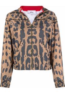 Atu Body Couture Jaqueta Bomber Com Animal Print - Neutro