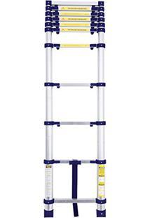Escada Telescópica Alumínio 10 Degraus 3,12 Metros 5121 - Mor