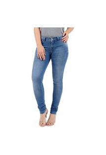 Calça Jeans Clothify Skinny Azul Claro Estonada