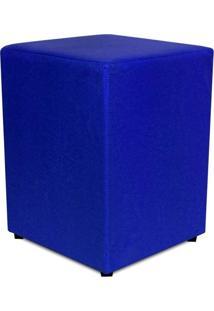 Puff Quadrado Corino Azul Royal Phoenix Puff