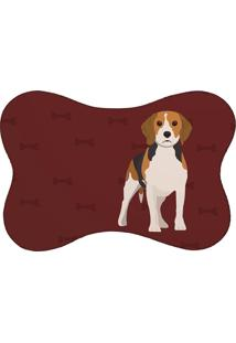 Tapete Mdecore Pet Mdecore Beagle Bordô 46X33Cm