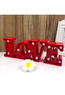 Luminária Adoraria Love Vermelho