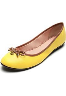 Sapatilha Moleca Laço Amarela
