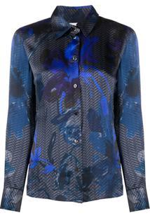 Giorgio Armani Pre-Owned 2000S Printed Blouse - Azul
