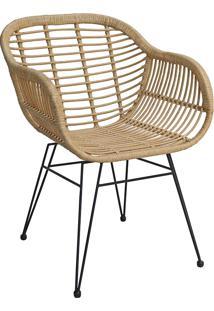 Cadeira Com Fibra Mkc-055-Marka Móveis - Natural