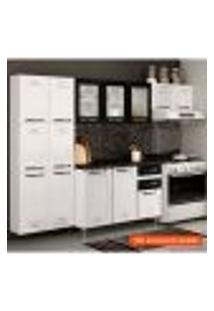 Cozinha Compacta Pérola 11 Pt Branca E Preta