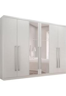 Guarda-Roupa Casal Com Espelho Bari 6 Pt 8 Gv Branco