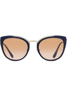 Prada Eyewear Cat-Eye Shaped Sunglasses - Azul