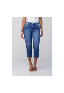 Calça Jeans Osmoze Cropped Mid Rise Reta 6001100123 Azul