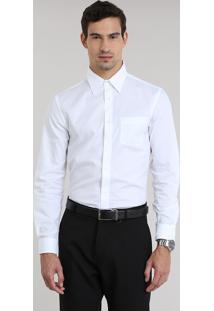 Camisa Comfort Texturizada Branca