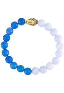 Nialaya Jewelry Pulseira De Ágata - Azul