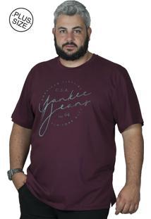 Camiseta Bigshirts Estampa Yankee Vinho