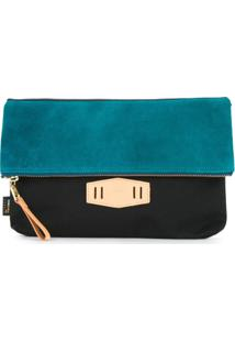 As2Ov Clutch Com Contraste - Preto