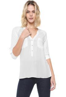 Camisa Ana Hickmann Reta Botões Branca