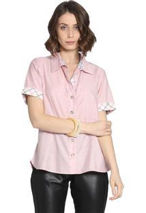 Camisa Manga Curta Energia Fashion Rosa