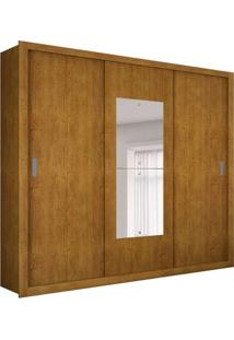 Guarda-Roupa Casal Com Espelho Veneza Premium Imbuia 3 Pt 4 Gv