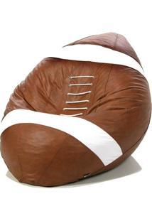 Puff Big Ball Futebol Americano Pop Cipaflex Caramelo Stay Puff