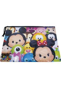 Necessaire Minas De Presentes Mickey & Minnie Tsum Tsum Multicolorido