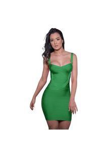 Vestido Bandage Dress Luxo Verde