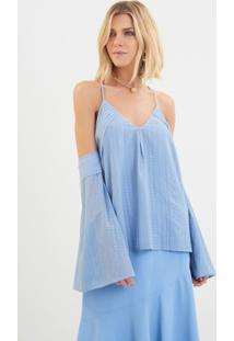 Blusa Le Lis Blanc Martina 2 Azul Feminina (Azul, G)