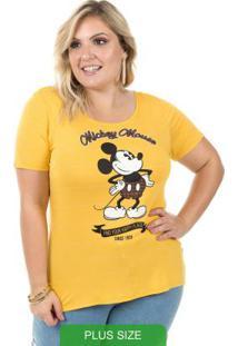 Blusa Estampada Com Glitter Amarelo