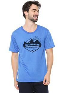Camiseta Masculina Eco Canyon Mountains Azul