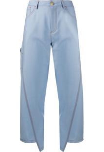 Lanvin Calça Jeans Com Detalhe De Pespontos - Azul