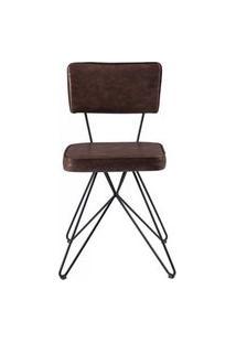 Cadeira Pop Retro Courissimo Whisky Base Estrela Preta 53Cm - 61252 Preto