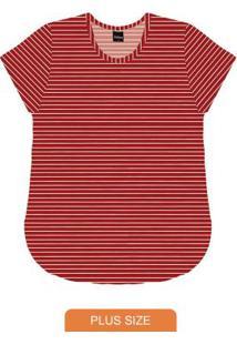 Blusa Básica Feminina Rovitex Vermelho