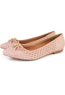 Sapatilha Trivalle Shoes Croche Nude