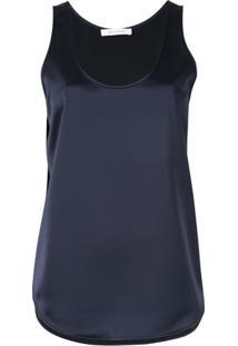 c75a7bfd4e Ir para a loja  Cédric Charlier Blusa De Cetim - Azul