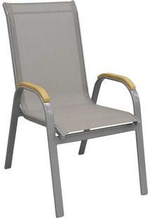 Cadeira Maresias Cinza Tela Cinza Rivatti Móveis