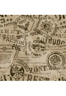 Papel De Parede Adesivo Emblemas Militares Grunge
