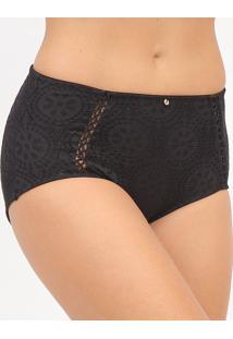 Calcinha Hot Pants Com Transpasse- Preta- Hopehope