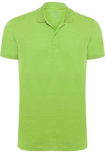 Polo Masculina Oxford - Verde