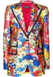 Dolce & Gabbana Blazer Com Estampa Floral - Vermelho