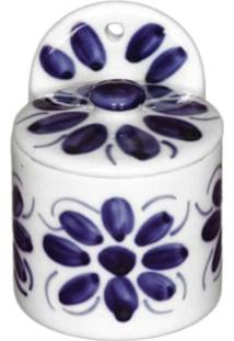 Saleiro De Parede E Pintado A Mão Monte Sião Porcelana Monte Sião