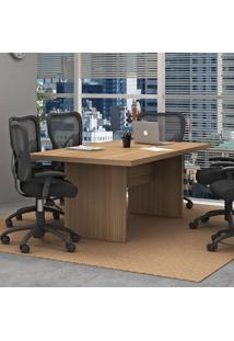 Mesa De Reunião Me4119 Amendoa - Tecno Mobili