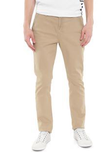 Calça Sarja Calvin Klein Jeans Chino Color Bege